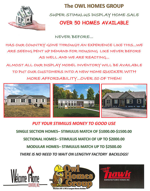 Super Stimulus Display Home Sale